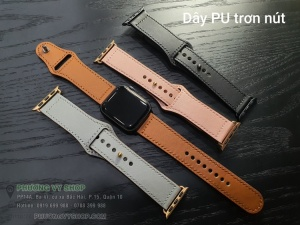 Dây PU color trơn nút Apple Watch